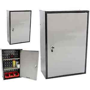 Image Is Loading LOCKABLE METAL GARAGE SHED STORAGE CABINET WALL UNIT