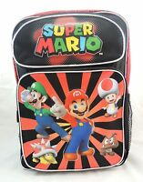 Nintendo Super Mario Bros Large 16 Backpack - Boy's School Bag Us Seller