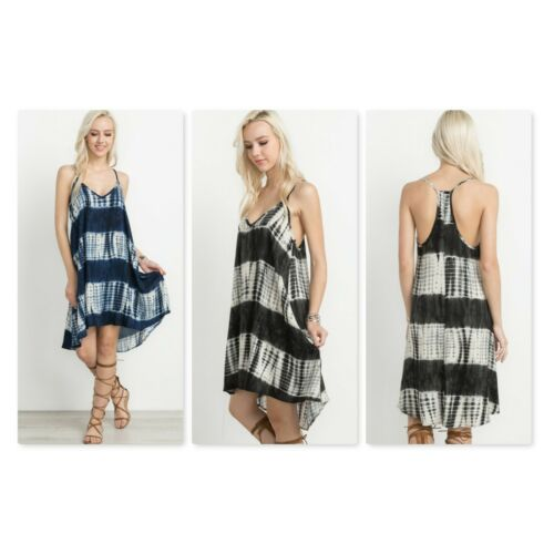 Womens Tie Dye Racer Back Cami Dress by Mitto Shop 2 Colors Sizes S M L New