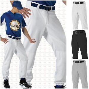 0ec7b114662 Image is loading Alleson-Athletic-Adult-Mens-Ankle-Length-Baseball-Pants-