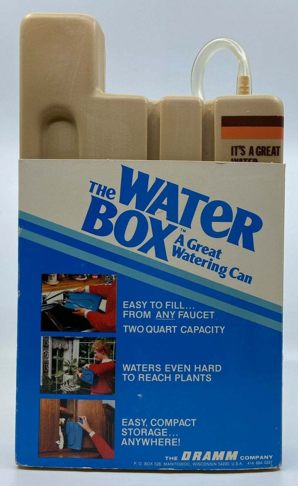 Vintage 1970s Dramm The Water Box Watering Can 2 Qt House Kitchen Yard Garage