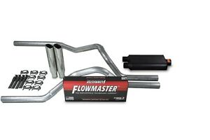 """Chevy GMC 1500 99-06 2.5/"""" Dual Exhaust Kits Flowmaster 50 Series Clamp on Tip"""