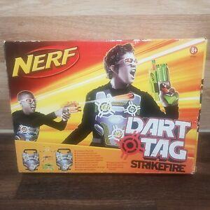 NERF-DART-Tag-Toy-Pump-Action-Bundle-Orange-Green-Vests-With-30-Velcro-darts