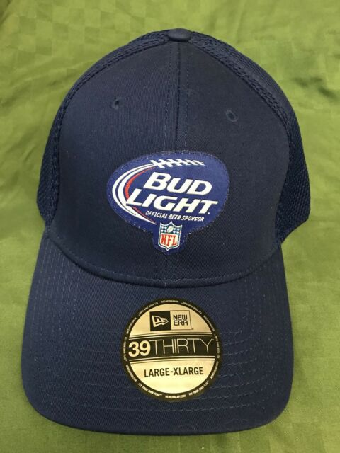 New NFL Bud Light Blue Cap New Era 39Thirty Large XL Fitted  92d3631f1