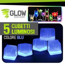 GHIACCIO LUMINOSO BLU fluorescente fluo glow starlight bicchieri luminosi 15023