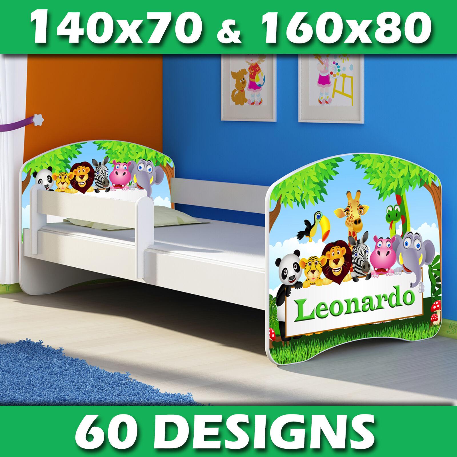 Lit enfant Bébé 140x70 160x80 + MATELAS + LIVRAISON GRATUITE BLANC