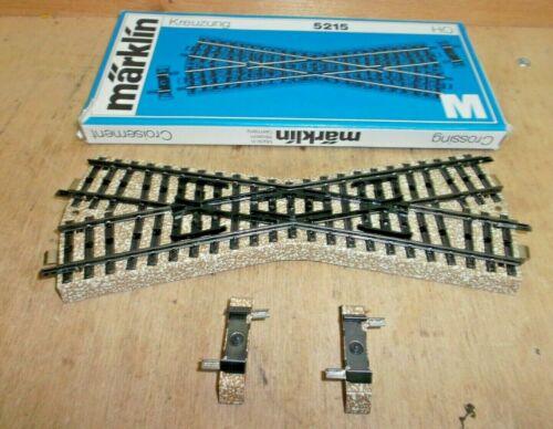 Märklin H0 5215 schmale Kreuzung M Gleis mit Ausgleichsstücken 2 x 5208 in OVP