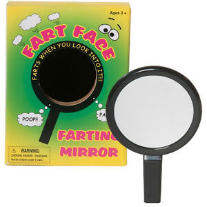 Fart face mirror joke novelty gift sound effect funny for Mirror jokes