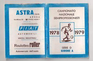 Calendario Sportivo.Dettagli Su Calendario Sportivo Campionato Calcio 1978 79 Serie D Girone A Arona Novara