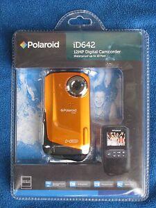 Polaroid iD642 12MP Digital Camcorder Waterproof Orange, New in Package!