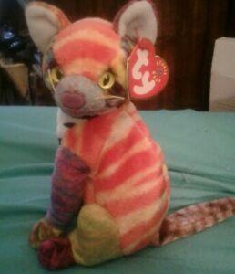 Ty Beanie Baby Kaleidoscope NEW Cat Stuffed Animal 2000