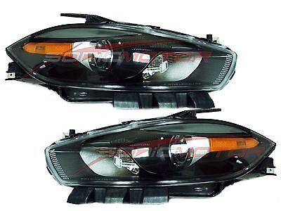 For 2013-2015 Dodge Dart Halogen Head Lights Driver & Passenger Side (Black)