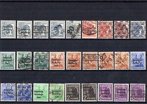 SBZ-Briefmarkenlot-mit-Aufdruck-Bandaufdruck-Bezirkshandstempel
