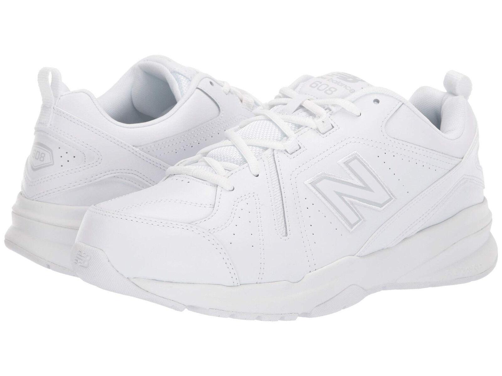 Hombres MX608AW5 Caminar Cuero New Balance Extra Ancho 4E blancooo blancooo 100% Original