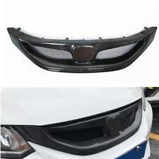 Carbon Fiber Look Front Bumper Grill For 2013 2014 2015 9th Honda Civic Sedan Si Fits 2013 Honda Civic Si