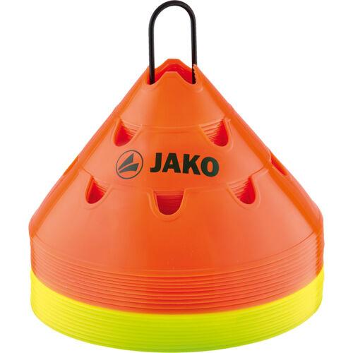 JAKO 2174 Markierungshütchen Markierungsteller Multi 20er Set 2-farbig 15cm hoch