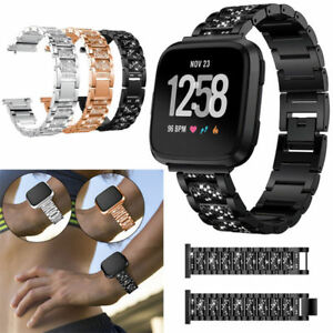 Metal-Bracelet-Bling-Band-Wristband-Accessories-for-Fitbit-Versa-Apple-Watch