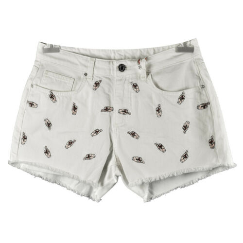 Karssen 10 Shorts Fantasy Hands Uk 28 Size Zoe Embroidered White BZdqFxPaP
