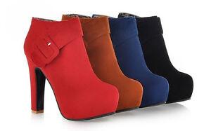 Botines botas zapatos de tacón mujer 12 cm mode como piel cómodo 9017