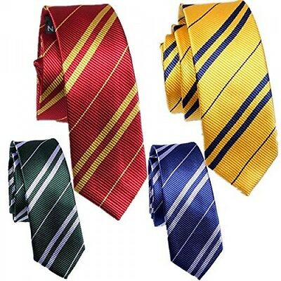 MENS LADIES UNISEX HARRY POTTER HOGWARTS SCHOOL DESIGN SKINNY TIE FANCY DRESS