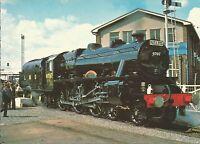 Railways Postcard engine locomotive L.M.S. Class 5MT 4-6-0 No.4767 at Shildon