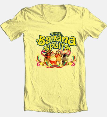 Banana Splits T-shirt Saturday morning 80/'s cartoons 100/% cotton yellow tee