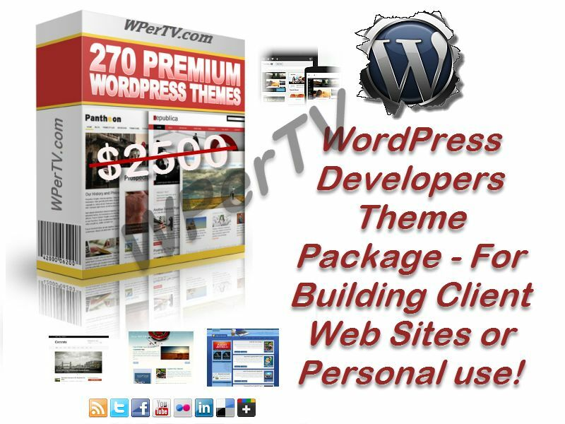 270 Wordpress Themes Templates Package for Website Developers or Resale - CD 2
