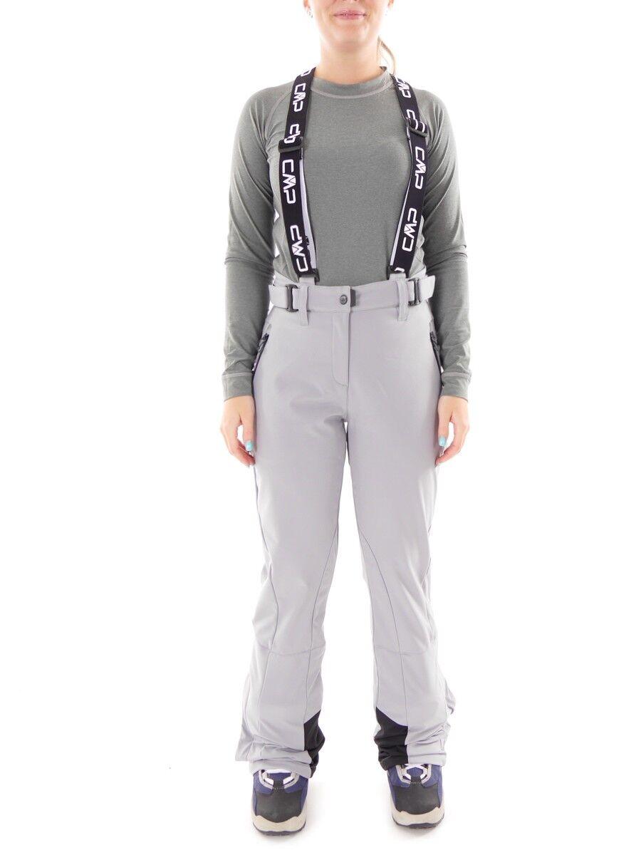 CMP pantalones Esquí Invierno gris claro Tirantes Resistente Al Viento Viento Viento 43cae2