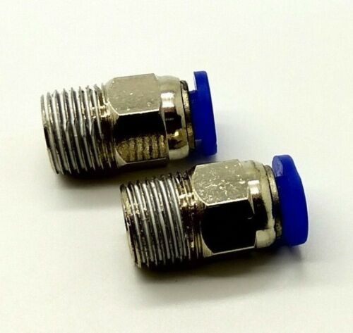 Espiga de empuje MACHO Ajuste Neumático Accesorios Para Aire Agua Manguera Tubo 4mm-1//8 BSPP