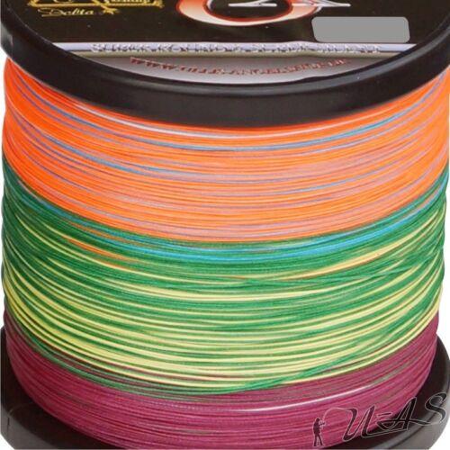DELTEX Super Strong Multicolor 0.40mm 39.6kg 1000M 8 x Geflochtene Angelschnur
