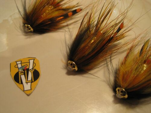 V Fly 1.5 Inch Aaroy Intruder Salmon Tube Fly Collection 5 Options with Trebles