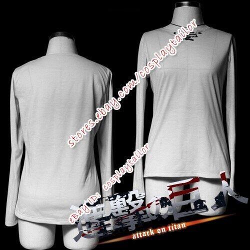 Attack On Titan Shingeki No Kyojin Eren Yeager T-Shirt Underwear Hooded Costume