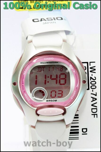 LW-200-7A Children's 100% Genuine Casio Watch 10 Year Battery Lift 50M Led Light