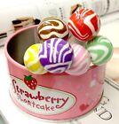 Miniature Dollhouse Candy Resin Lollipop Re-ment Garden Fairy Bonsai Decor 1pc S