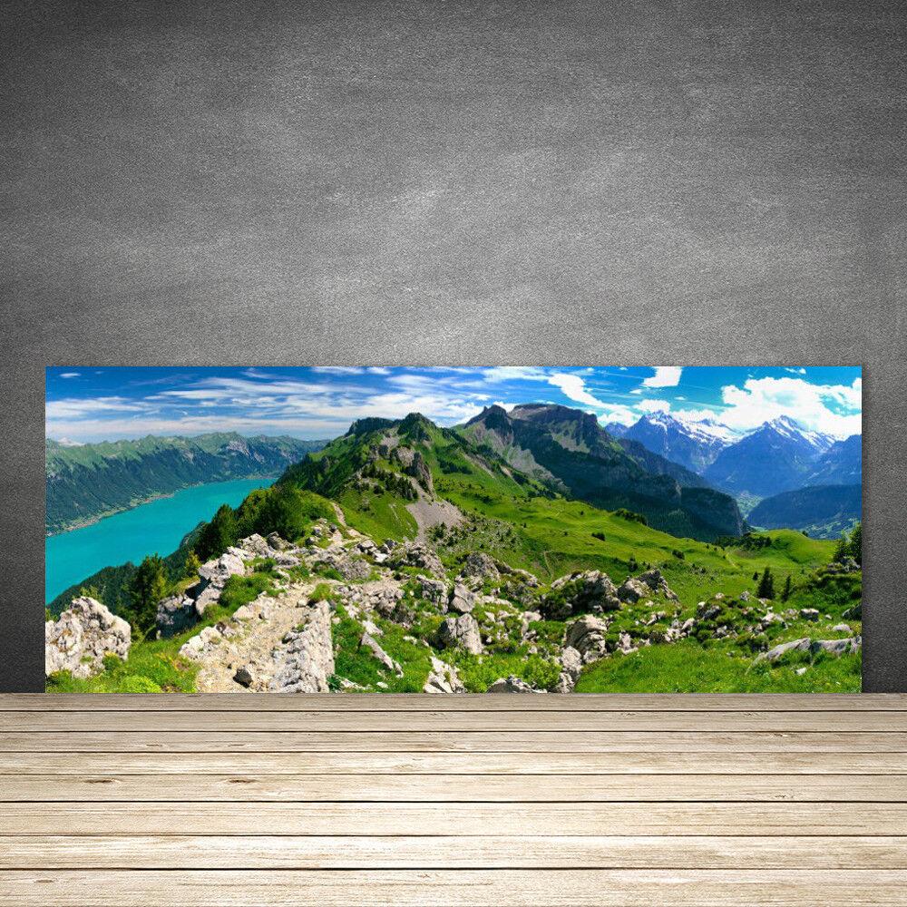 Crédence de cuisine en verre Panneau 125x50 Nature Montagnes