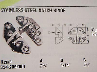 "Marine Boat Stainless Steel Standard Hatch Hinge 2-5//8/"" x 2-7//8/"" 205280-1"