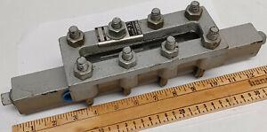 "NOS Steel Penberthy 1RL3 Liquid Level Sight Glass lens Gauge with 1/2"" NPT ports"