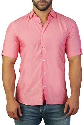 MASUTTO DANIEL//55 Men Dress L//S Long Sleeve Shirt Bugatchi Robert Graham Maceoo