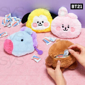 BTS-BT21-Official-Authentic-Goods-BABY-Flat-Fur-Series-Mini-Pouch-Tracking