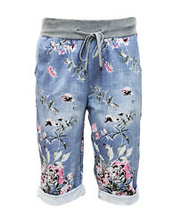 Caprihose – SHORTS – kurze Hose Jogpants – Sweatshorts – Bermuda – BW – GR 36-44