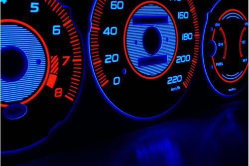 Honda Civic 1996-2000 design 2 glow gauge plasma dials tachoscheibe glow shift i