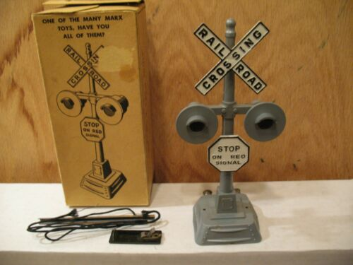 Marx 421 Twin Light Crossing Signal with Box