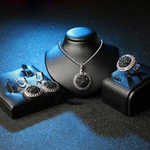 EG-4Pcs-Jewelry-Set-Women-Bohemia-Round-Pendant-Party-Ring-Earrings-Necklace-Gi