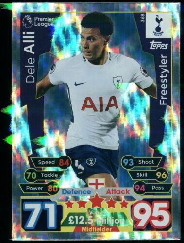 Dele alli Tottenham Hotspur #368 Match Attax 2017//18 Topps Trading Card C2622