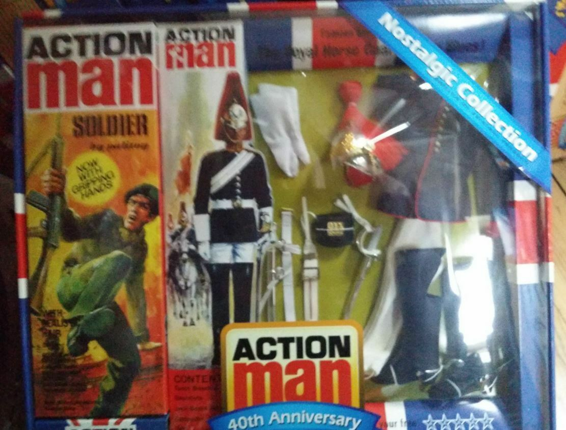 Action Man Set bluees & Royal - Figurines 12 pouces GiJoe Horseguard Lifeguard