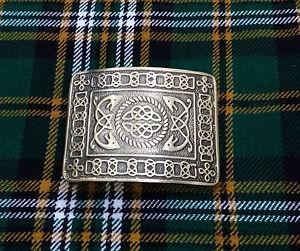 Men-s-Serpent-Celtic-Knot-Kilt-Belt-Buckle-Silver-Brushed-Antique-Finish-Buckles