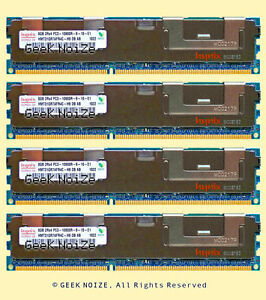 Server-RAM-32GB-4x-8GB-PC3-10600R-ECC-REG-DDR3-1333-2Rx4-Memory-FIT-Dell-HP-IBM
