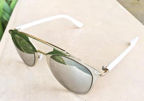 Large Mirror So Reflected Metal Bar Aviator HOT Mirror Big Sunglasses 10096 L
