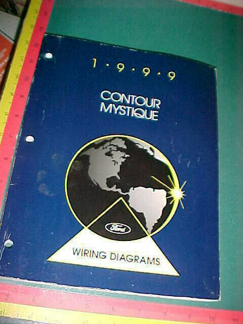 1999 Ford Contour Mercury Mystique Wiring Diagrams Manual Vgood Used
