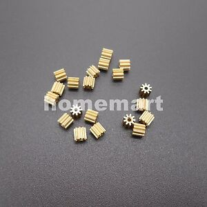 50X91A Brass Gear 0.3 Modulus Aperture 0.97mm Model Accessories 9T Metal 0.3M